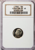Proof Roosevelt Dimes: , 1960 10C PR68 Ultra Cameo NGC. NGC Census: (1/0). PCGS Population(267/121). Numismedia Wsl. Price for problem free NGC/PC...