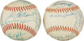 Baseball Collectibles:Balls, 1964 Red Sox Team Signed Baseball and 1966 Angels Team Signed Baseball. ...