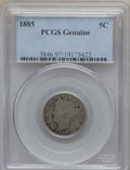 Liberty Nickels, 1885 5C -- Environmental Damage -- PCGS Genuine. This PCGS numberending in 97 suggests Environmental Damage as the reason,...