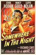 """Movie Posters:Film Noir, Somewhere in the Night (20th Century Fox, 1946). One Sheet (27"""" X41"""").. ..."""