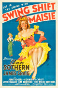 """Movie Posters:Comedy, Swing Shift Maisie (MGM, 1943). One Sheet (27"""" X 41"""").. ..."""