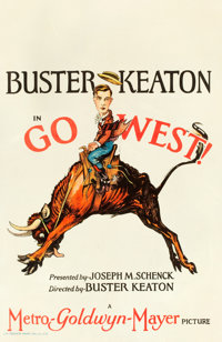 "Go West (MGM, 1925). Window Card (14"" X 22"")"