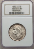 Commemorative Silver: , 1936-D 50C Boone MS65 NGC. NGC Census: (375/211). PCGS Population(516/271). Mintage: 5,005. Numismedia Wsl. Price for prob...