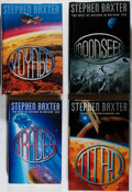 Books:Science Fiction & Fantasy, Stephen Baxter. INSCRIBED / SIGNED. Four First Editions. Voyager, 1996-1998. All four inscribed and signed by Baxter to Je... (Total: 4 Items)