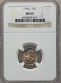 Roosevelt Dimes: , 1946-S 10C MS65 NGC. NGC Census: (118/1544). PCGS Population(148/1289). Mintage: 27,900,000. Numismedia Wsl. Price for pro...