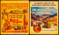 """Movie Posters:Western, Bend of the River & Other Lot (Universal International, 1952). Window Cards (2) (14"""" X 16.5"""" & 14"""" X 17""""). Western.. ... (Total: 2 Items)"""