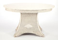 Furniture , AN AMERICAN PAINTED WICKER TABLE . Circa 1920. 29-1/2 x 50 x 26 inches (74.9 x 127 x 66.0 cm). ...