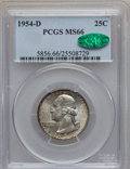 Washington Quarters: , 1954-D 25C MS66 PCGS. CAC. PCGS Population (303/7). NGC Census:(475/43). Mintage: 42,305,500. Numismedia Wsl. Price for pr...