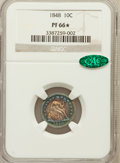 Proof Seated Dimes, 1848 10C PR66 ★ NGC. CAC. NGC Census: (2/0). Mintage: 10.Numismedi...