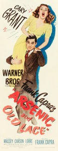 "Movie Posters:Comedy, Arsenic and Old Lace (Warner Brothers, 1944). Insert (14"" X 36"")....."