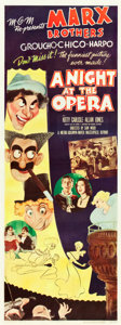 "Movie Posters:Comedy, A Night at the Opera (MGM, R-1948). Insert (14"" X 36"").. ..."