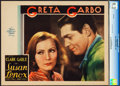 "Movie Posters:Drama, Susan Lenox (Her Fall and Rise) (MGM, 1931). CGC Graded Lobby Card(11"" X 14"").. ..."