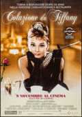 "Movie Posters:Romance, Breakfast at Tiffany's (Paramount, R-2011). Italian 2 - Foglio (38"" X 55"") 50th Anniversary. Romance.. ..."