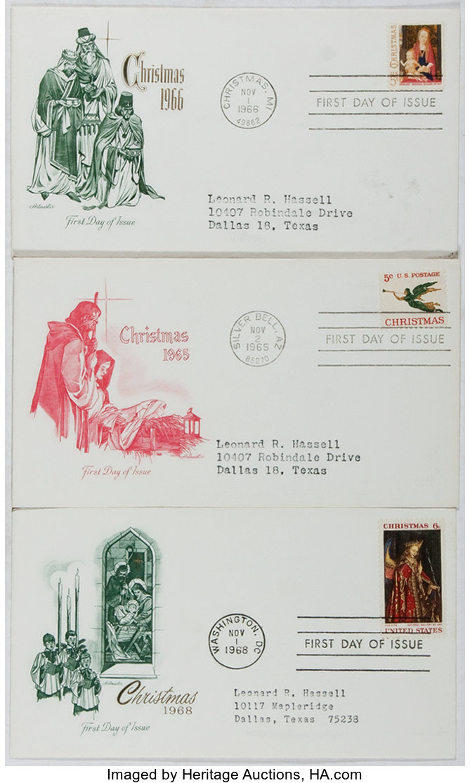 [First Day Covers]. Group of 3 Related to Christmas. 1965-1968. | Lot #92240 | Heritage Auctions