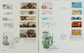 Books:Americana & American History, [First Day Covers]. Group of 10 Related to Military History andFamous Battles. 1977-1983. Includes: Revolutionary War, Nath...
