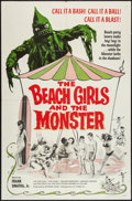"""Movie Posters:Horror, The Beach Girls and the Monster (U.S. Films Inc.,1965). One Sheet (27"""" X 41""""). Horror.. ..."""