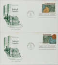 Books:Business & Economics, [First Day Covers]. Group of 2 Related to the World Trade Centerand Banking and Commerce. 1975. Fine, but for some ligh...