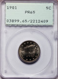 Proof Liberty Nickels: , 1901 5C PR65 PCGS. PCGS Population (106/118). NGC Census:(137/149). Mintage: 1,985. Numismedia Wsl. Price for problemfree...