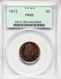 Proof Liberty Nickels: , 1912 5C PR65 PCGS. PCGS Population (98/46). NGC Census: (127/99).Mintage: 2,145. Numismedia Wsl. Price for problem free NG...