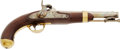 Handguns:Muzzle loading, Really Excellent US M1842 Percussion Single Shot Pistol - Aston / 1852....