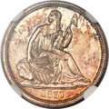 Seated Dimes, 1837 10C No Stars, Large Date MS67 NGC....