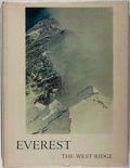 Books:Natural History Books & Prints, Thomas F. Hornbein. Everest. The West Ridge. Photographs from the American Mount Everest Expedition and by its l...