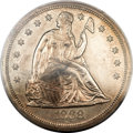 Proof Seated Dollars, 1868 $1 PR62 PCGS Secure. ...