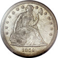 Seated Dollars, 1859-S $1 MS61 PCGS....