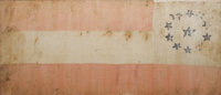 Impeccably Provenanced Confederate Silk First National Battleflag of Co. K, 3rd Texas Cavalry, Used At The Battles Of Oa...