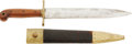 Edged Weapons:Knives, Fine Condition US M1849 Rifleman's Knife And Scabbard By Ames. ...