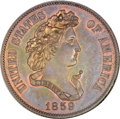 Patterns, 1859 P50C Half Dollar, Judd-238, Pollock-294, R.5, PR65 Brown NGC....