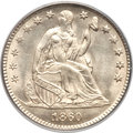 Seated Half Dimes, 1860 H10C Transitional MS64 PCGS. Judd-267, Pollock-315, R.4....