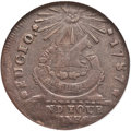 Colonials, 1787 1C Fugio Cent, Club Rays, Rounded Ends XF45 NGC. N. 3-D,W-6680, R.3....