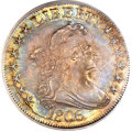 Early Half Dollars, 1806 50C Pointed 6, Stem MS63 PCGS. O-116, R.3....