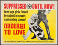 "Movie Posters:Exploitation, Ordered to Love (M-C Distribution, 1963). Half Sheet (22"" X 28"").Exploitation.. ..."