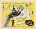 "Movie Posters:Rock and Roll, Twist All Night (American International, 1962). Half Sheet (22"" X28""). Rock and Roll.. ..."