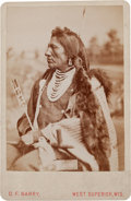 Photography:Cabinet Photos, Albumen Cabinet Card Photo: Chief Goose - Sioux ...