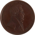 Political:Tokens & Medals, Andrew Jackson: Rare 51 mm. Bronze Indian Peace Medal....