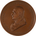 Political:Tokens & Medals, John Tyler: Bronze Indian Peace Medal....