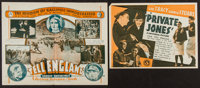 "Private Jones and Other Lot (Universal, 1933). Herald (4.75"" X 7"") and Australian Herald (5.5"" X 8.75&quo..."