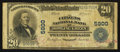 National Bank Notes:Kentucky, Bowling Green, KY - $20 1902 Plain Back Fr. 659 The Citizens NB Ch.# 5900. ...
