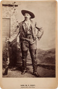 "Photography:Cabinet Photos, William F. ""Buffalo Bill"" Cody Cabinet Card...."