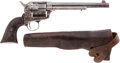 Handguns:Single Action Revolver, Colt Single Action Frontier Six-Shooter with Slim Jim Holster....