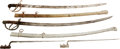 Edged Weapons:Swords, Lot of Two U.S. Socket Bayonets and Two U.S. 19th Century Swords.... (Total: 4 Items)