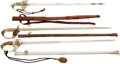Edged Weapons:Swords, Lot of Three Mexican Officers' Swords With Patterns in the GermanStyle.... (Total: 3 Items)