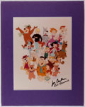 "Autographs:Artists, [Hanna-Barbera Cartoons]. Bill Hanna and Joe Barbera. Signed Photo.Measures 8.5"" x 11"". Taped on the verso of the photo to ..."