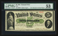 Large Size:Demand Notes, Fr. 1 $5 1861 Demand Note PMG About Uncirculated 53.. ...