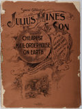 Books:Business & Economics, [Early Mail Order Catalog]. Jules Hines & Son. Catalogue No.36. Baltimore, 1898. Publisher's wrappers (detached...