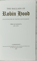 Books:Fine Press & Book Arts, [Limited Editions Club]. SIGNED / LIMITED. The Ballads of RobinHood. Illustrated by David Gentleman. Cambridge ...