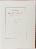 Books:Fine Press & Book Arts, [Limited Editions Club]. Walter Pater. SIGNED/LIMITED. The Renaissance. Designed by Martino Mardersteig. Limited...